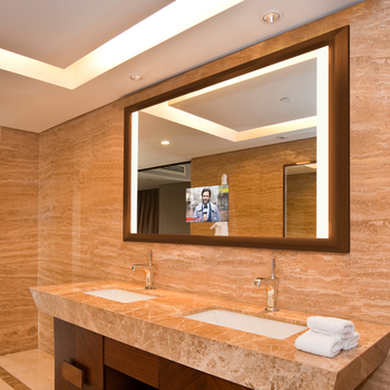 Hotel Bathroom Touch Screen Smart Tv Built In Led Lighting Mirror