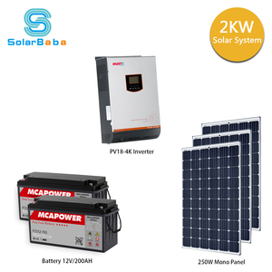 Off grid home solar power system 2kw 3kw ac solar powered air conditioner