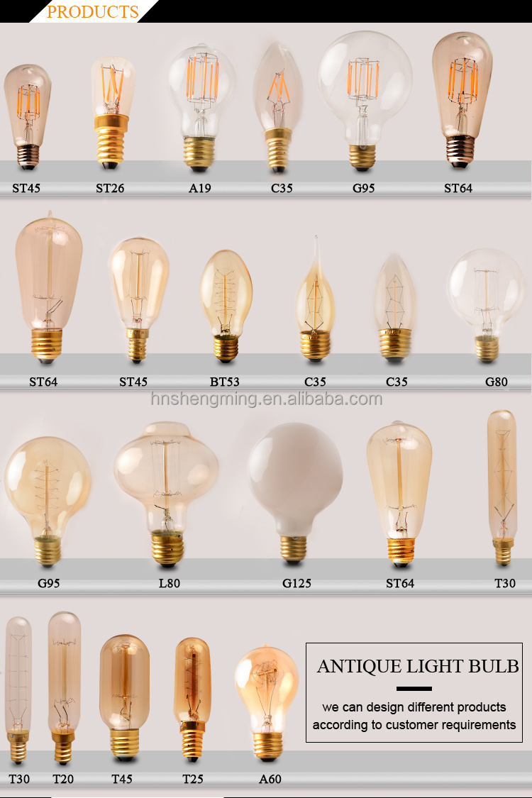China Supplier Edison Incandescent Lamp Bulb A19 Vintage Light Bulb For Sale Buy Vintage Light