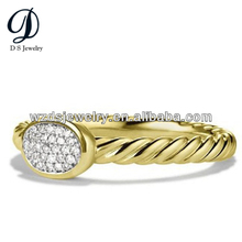 925 Sterling Silver Fashion Rings Beehive White Cubic Zirconia for Jewelry