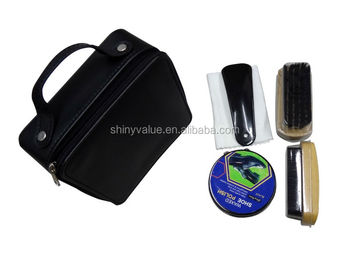 Easy handle travel usage shoe polish set