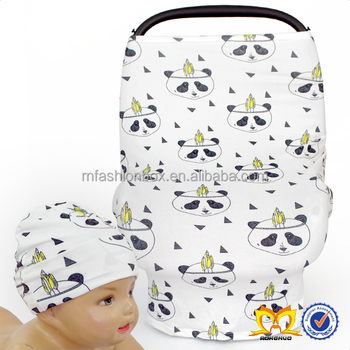 baby hat cover adorable panda pattern car seat cover for baby animal baby hat set