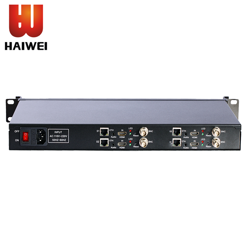 Haiwei H3414A SDI Full HD H.265 Video Encoder, IPTV Server Modulator