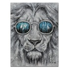 Hand Paint Knife Lion Cool Living Painting Decor