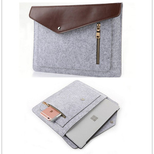 Factory Price 11inch 13inch Felt Laptop Sleeve Bag Lightweight Leather Bags for Macbook pro air