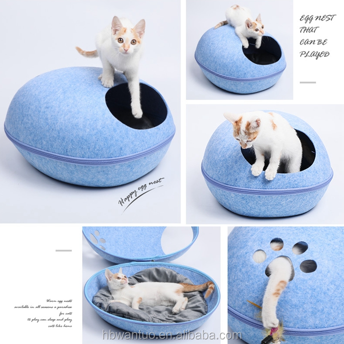 petstar 2018 Wholesale Cat House Felt Cat Cave Bed Pet House and Bed Two way to use