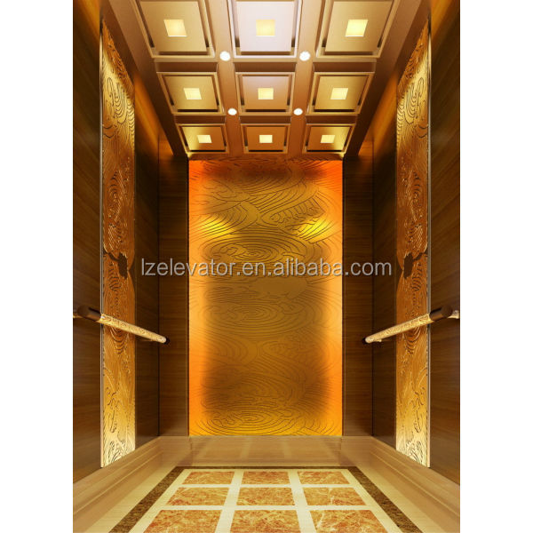 Luxury elevator cabin design for hotel use buy elevator Elevator cabin design