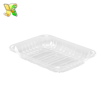 Vacuum Formed Blister Pet custom food trays biodegradable disposable food grade plastic meat trays