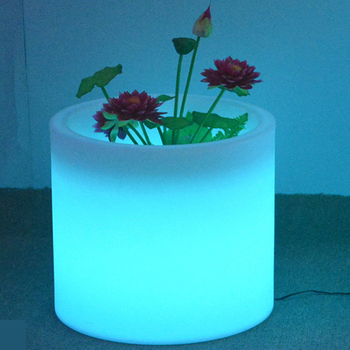 ornamental outdoor smart plastic terracotta led illuminate balcony lighting flower pot