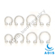 DONGGUAN 16G STEEL CIRCULAR HORSESHOE BARBELL PIERCING JEWELRY BALL LIP EARRING TRAGUS SEPTUM NIPPLE
