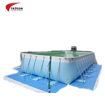 Easy Set Up Steel Frame Hard Plastic Pvc Swimming Pools Above Ground