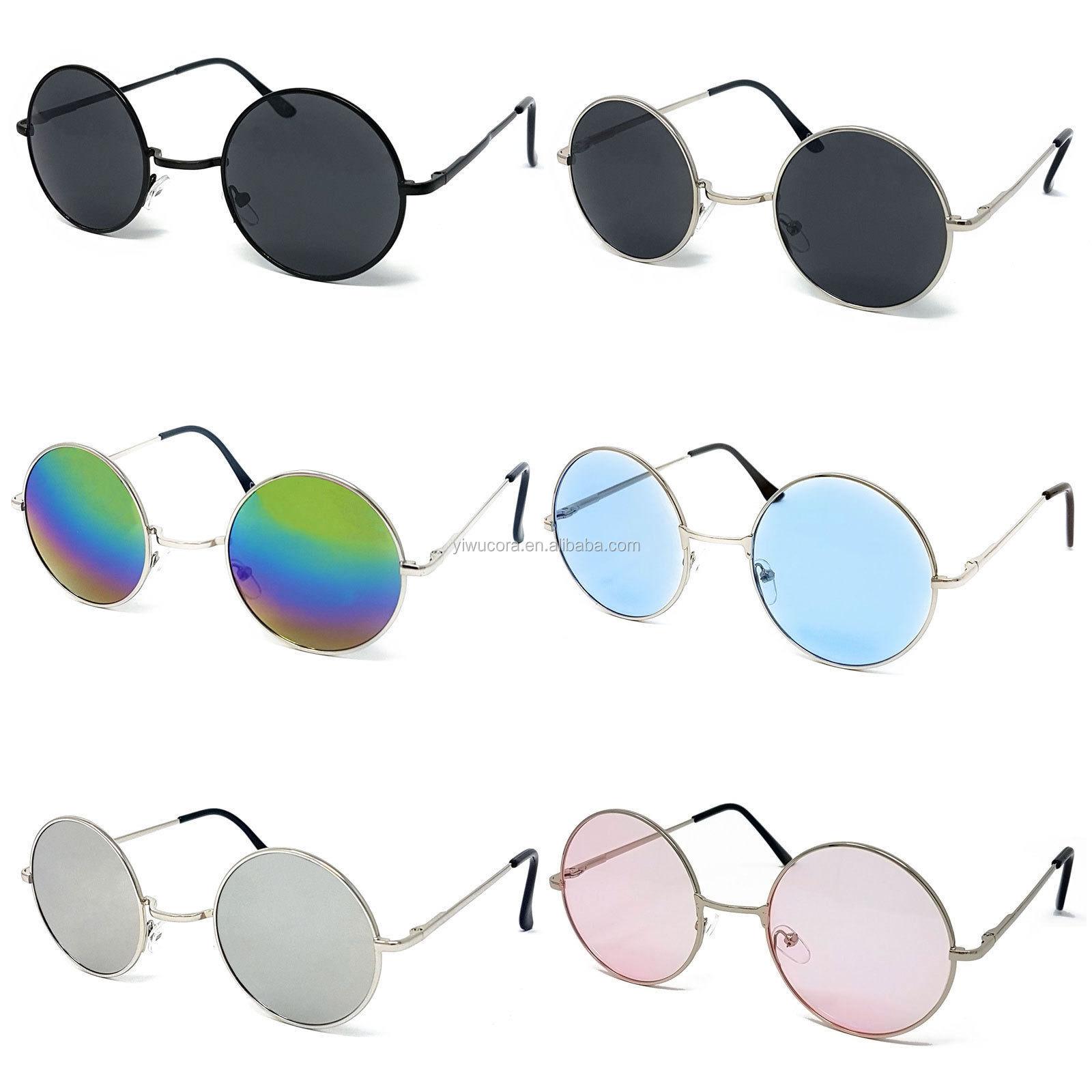 Classic Black Lens Sunglasses Mens Ladies Womens Fashion 80s UV400