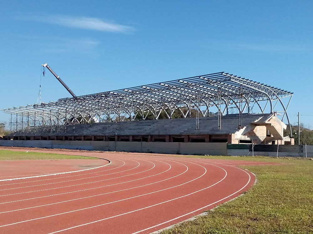 pre-engineering steel frame roof structure sport hall