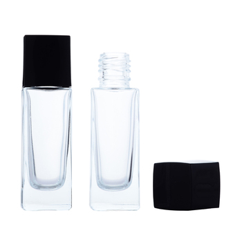 CP07-0059 Factory low price high quality empty glass liquid foundation bottle 30ml