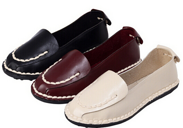 2015 Spring Summer Casual Soft Women Flats Round Toe Ladies Slip On Moccasins Driving Pregnant Loafers free shipping