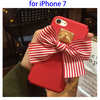 3D Red Bowknot Decoration Plastic Hard Case for iPhone 7 Case