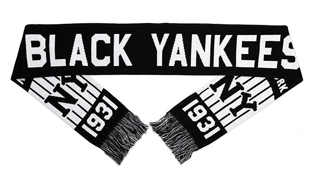 aacd1939ea4 Get Quotations · Big Boy Headgear New NLBM Black Yankees Scarf Black White