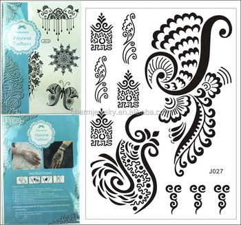 1pc Fashion Flash Waterproof Tattoo Women Black Henna Jewel Lace