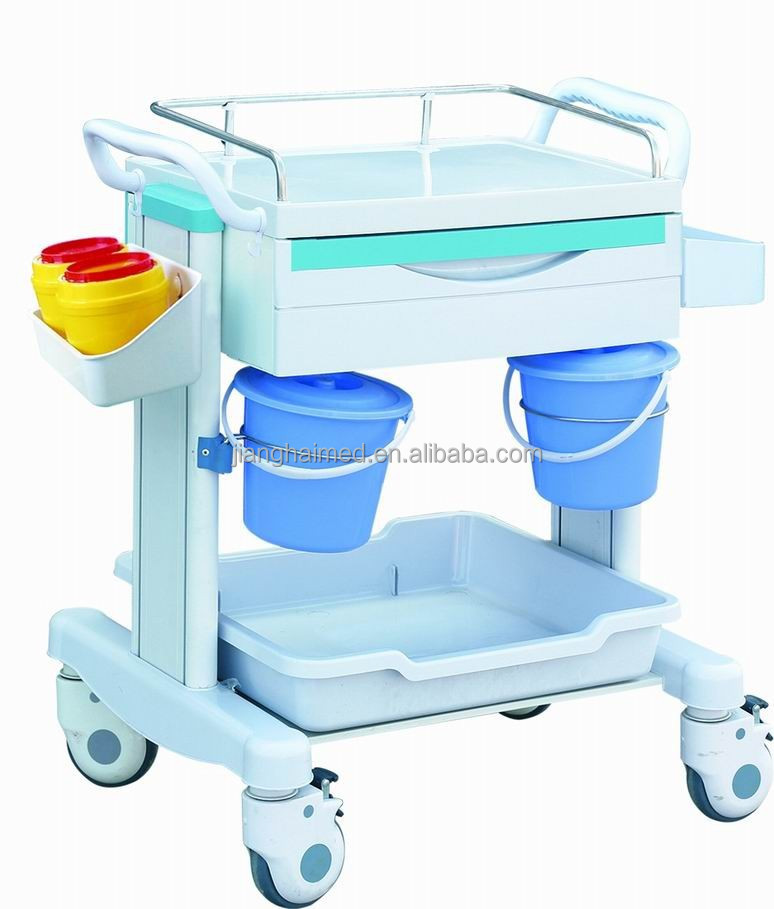 ABS plastic hospital treatment cart JH-CT001