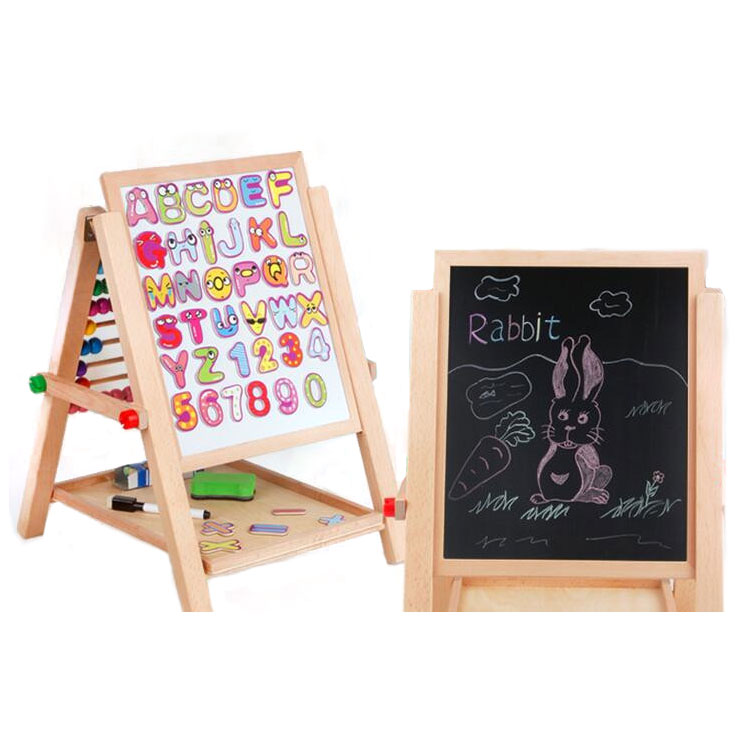 FQ brand kids wood drawing stand/collapsible easel/educational toys high quality writing magnetic board