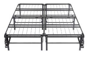 Kings Brand Full Size Metal Bi-Fold Folding Platform Bed Frame Base Mattress Foundation