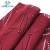 Red pearl Polyester Hand Beaded Lace Fabric for garment Dress