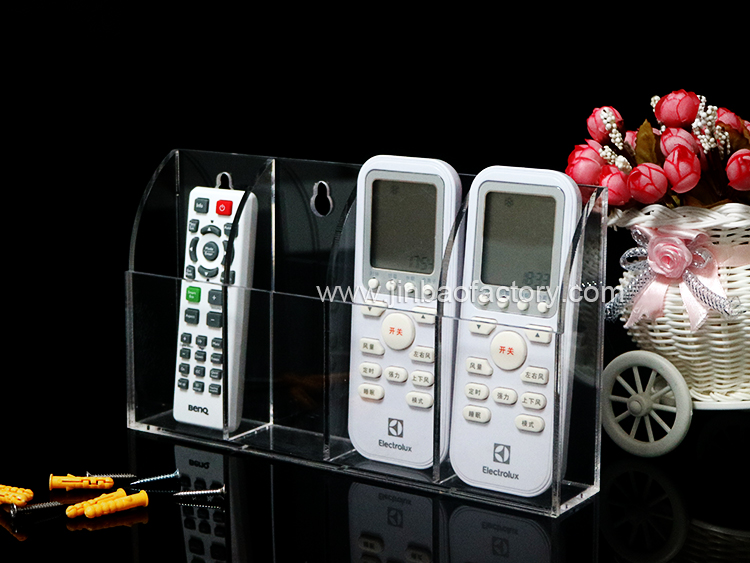 JINBAO acrylic TV remote control holders hotel air conditioning remote control rack