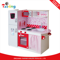 MDF Interactive Role Play Kitchen design utensil Toy cooking set for gifts