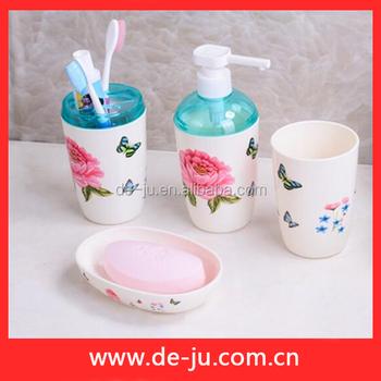 Fashion Colorful Ps Plastic Bathroom Accessories