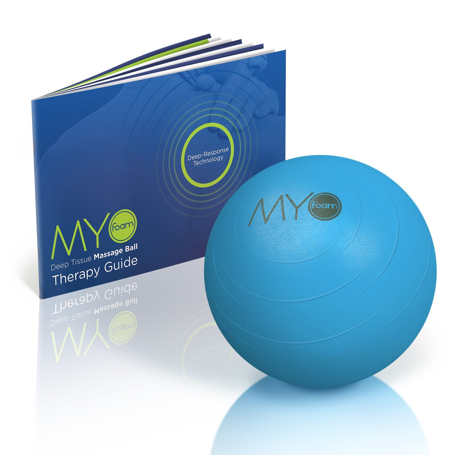 "Deep Tissue Massage Balls with Myofoam for Trigger Point Therapy 5"" High Density"