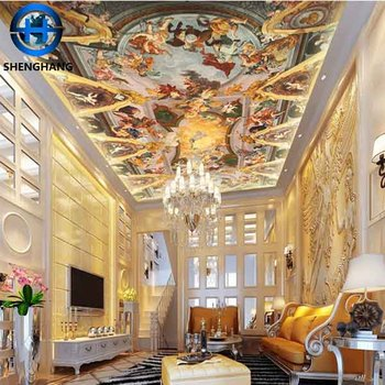 Hot Product 3d Wallpaper Hotel False Ceiling Good Decor Roof Mural