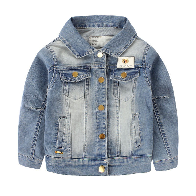 3e2b4221a8ca Buy Children Outerwear Casual Kids Clothes Baby Boys and Girls Denim ...