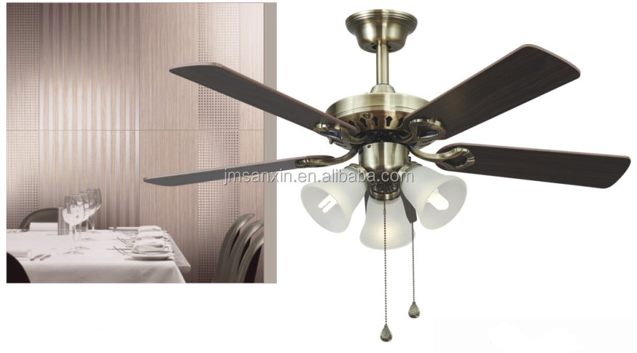 2016 high quality decorative ceiling fan with lights