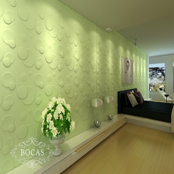 Elegant BOCAS Interior Decoration Office Bamboo Wallpapers Fibre Decor Wall Coating  3D Panels
