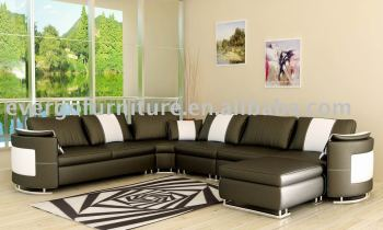 Elegant Leather Sofa Set