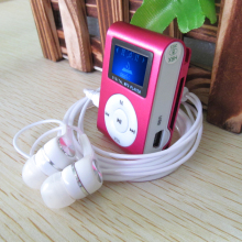 2015 New LCD Screen Metal Mini Clip MP3 Player with Micro TF/SD Slot  with Earphone and USB Cable Portable MP3 Music Players