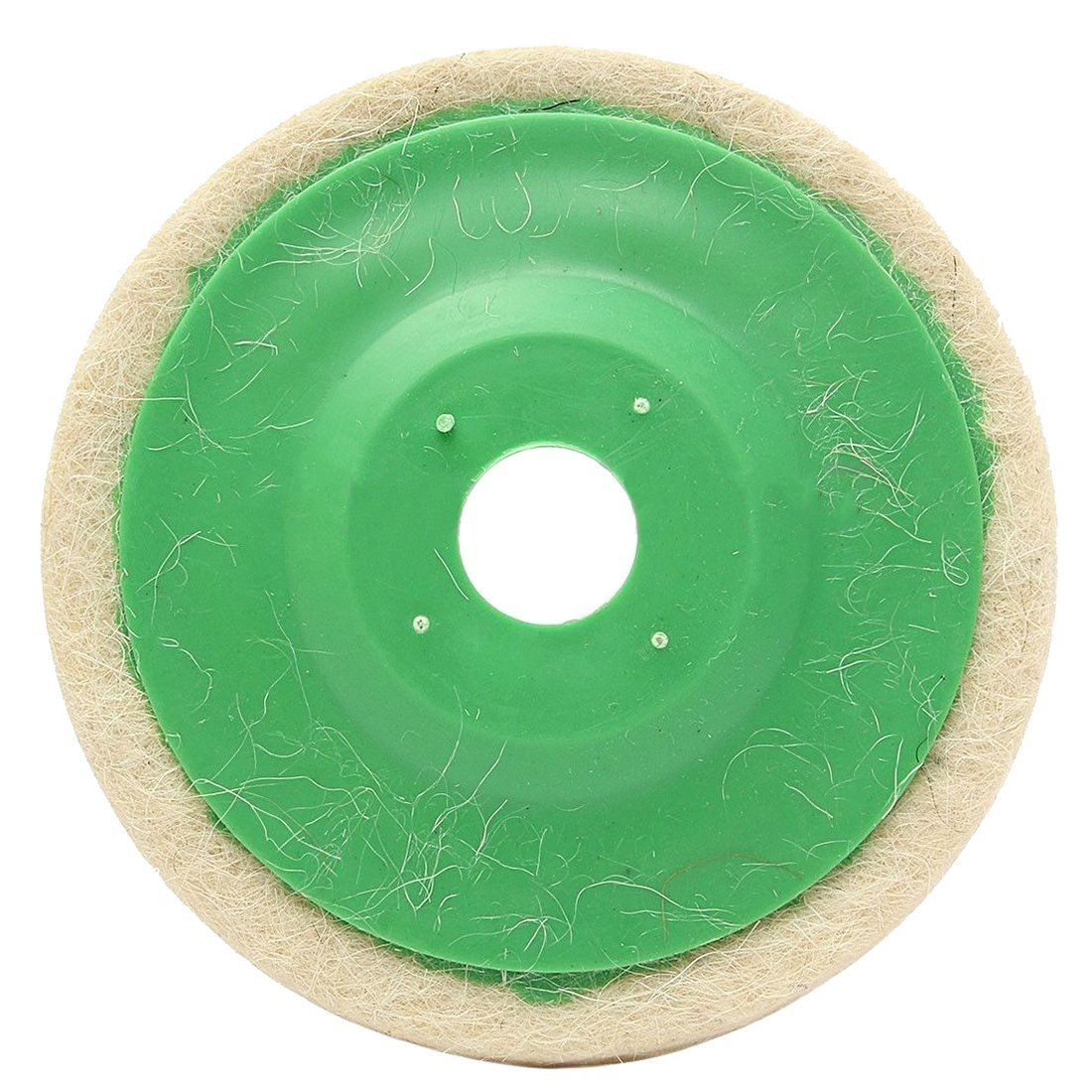 TOOGOO(R) 10pcs 100mm 4 Inch Round Wool Buffing Pad Polishing Wheel Felt Buffer Disc Set