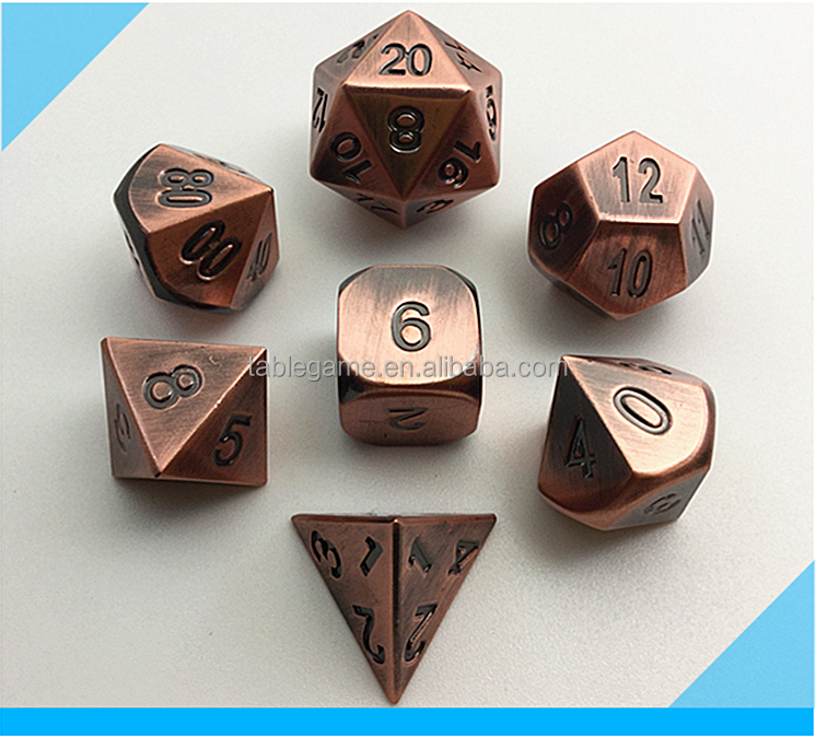 High quality polyhedral metal dice for board game