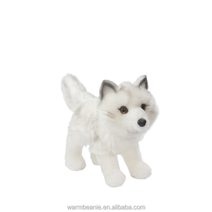 Promotional high quality super soft Suntown plush stuffed animal toy,plush white wolf toy,plush standing wolf toy with cool look