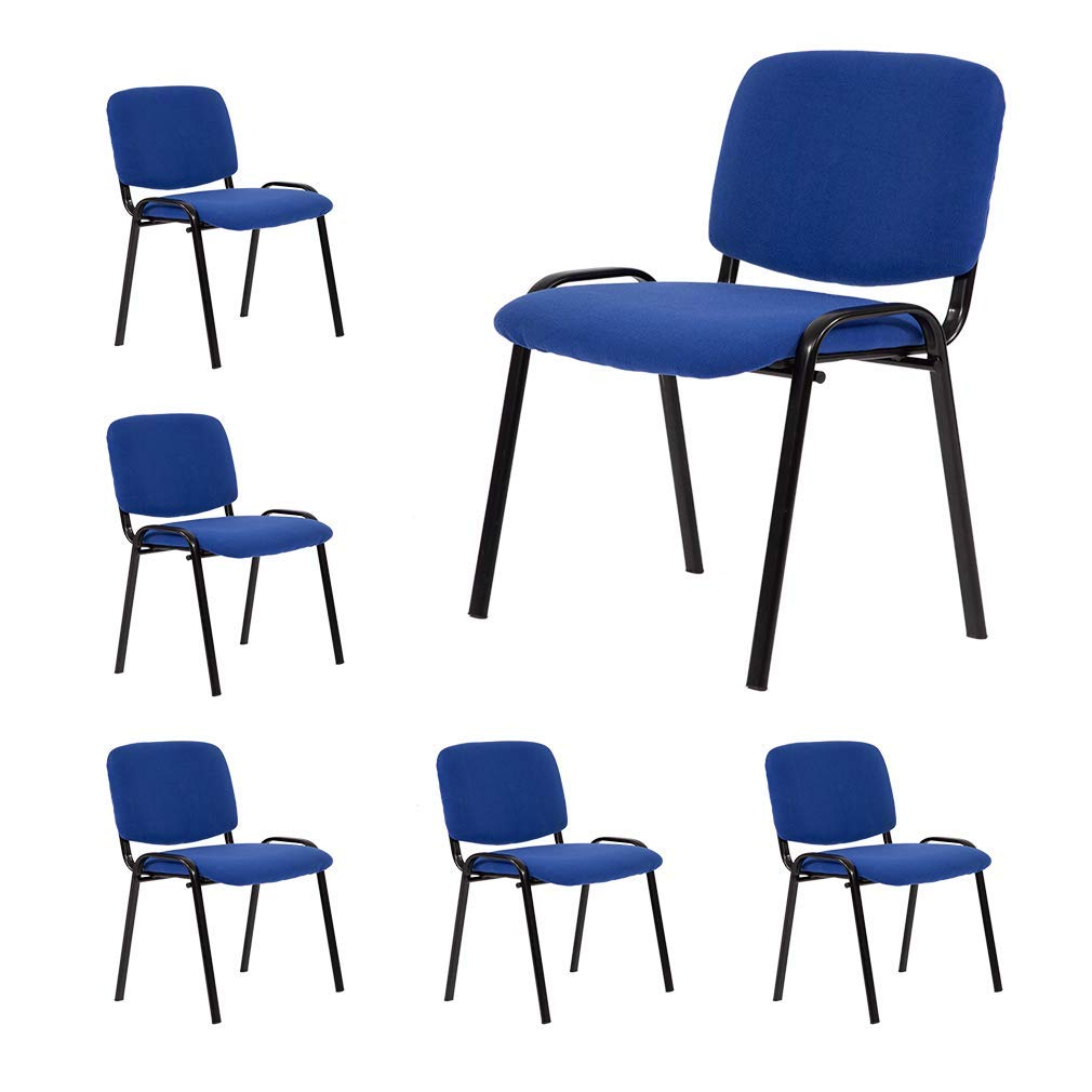 Guest Chair Reception Chairs Conference Chairs,Stack Meeting Chair Executive Side Chair with Lumbar Support and Cushion Seat for Home Office Waiting Room
