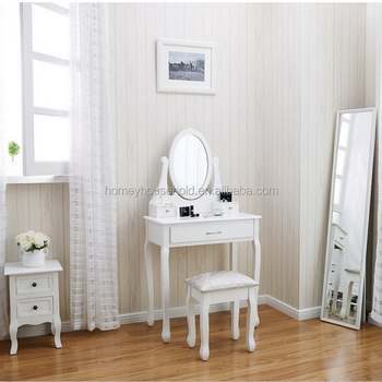 White Anthropologie Bedroom Shabby Chic Dressing Table With