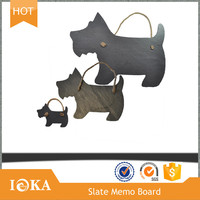 Creative Dog Shaped Black Nature Slate Memo Board