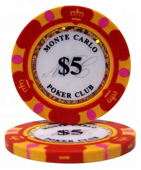 Factory Direct Supplier Casino 14g 3-tone Crown Clay Composite Custom Plastic Sticker Poker Chips for Sale