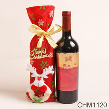 Christmas Decorations For Home Wew Year Present Red Wine Bottle Cover Bags Decoration Home Party Santa Claus Christmas Random