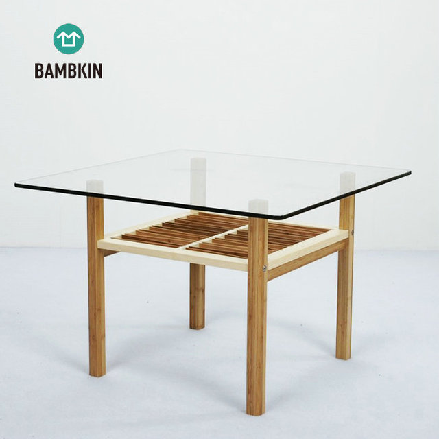 office side tables. BAMBKIN Bamboo Living Room Furniture Square Side Tea Table Glass End  Modern Design Use For Office Tables