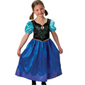 Elsa Fancy Dress For Girls Printing Stitching Style Sequin Lace Short Sleeve Princess Clothes 080614