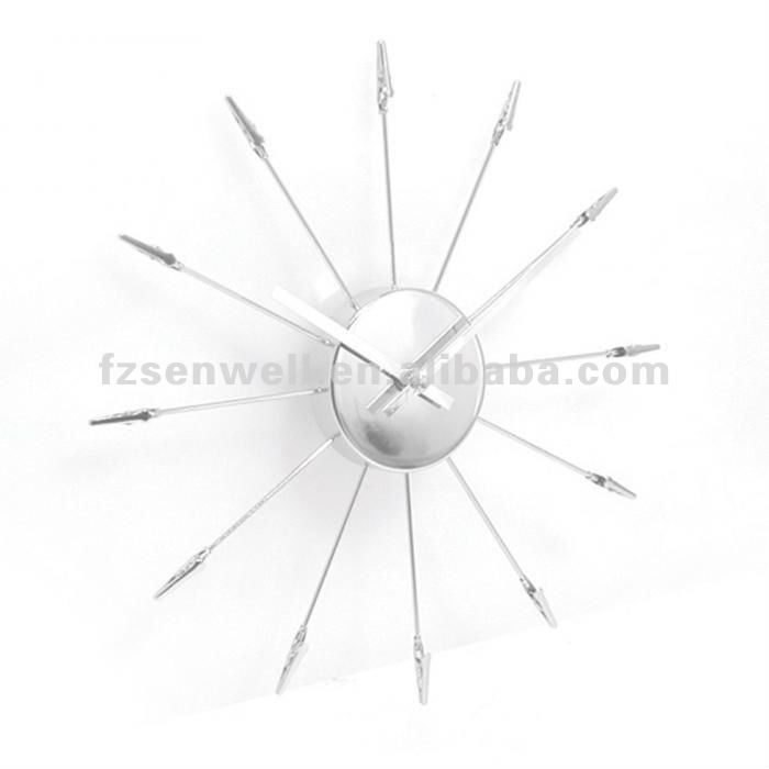 Silver Emanative Wall Clock--Hanging