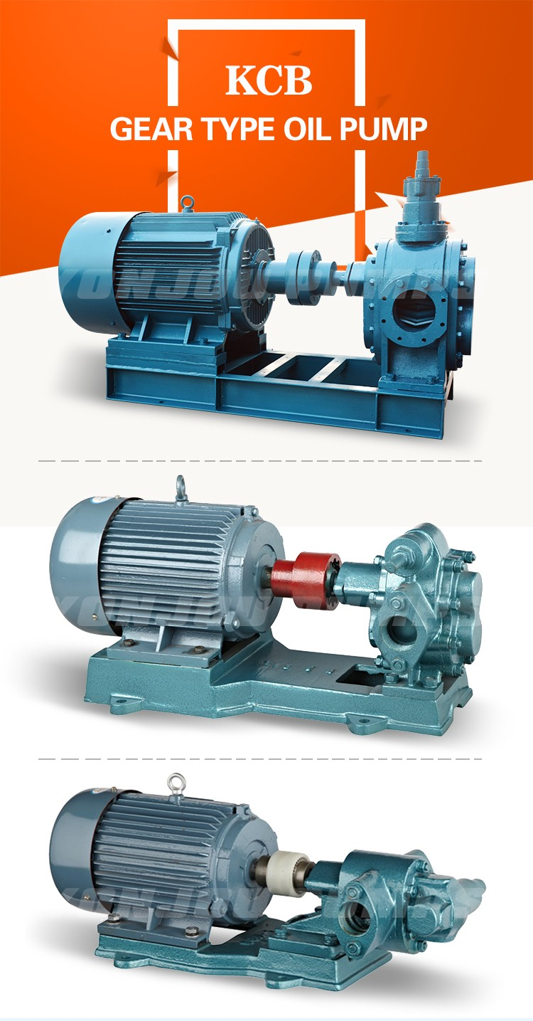 KCB Electric Horizontal Rotary Stainless Steel Oil Transfer Gear Pump