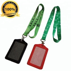 Wholesale custom leather PU Badge ID card holder