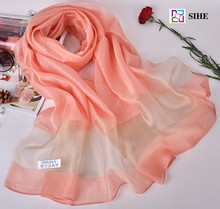fashion women hijab muslim real silk scarves solid color in 19 colors